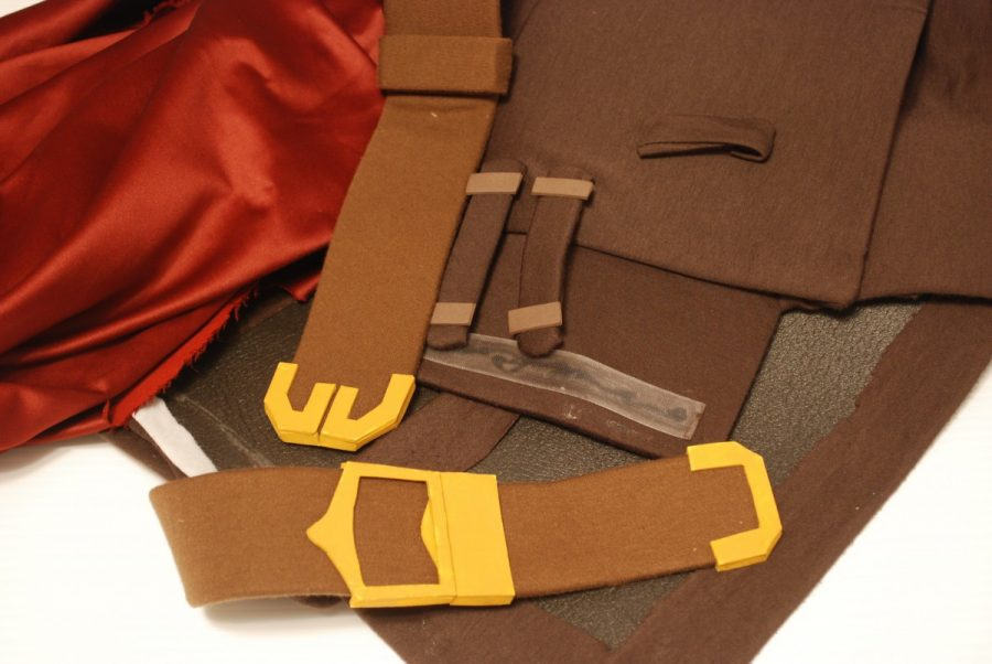 belt and chest pieces for ike cosplay with cape