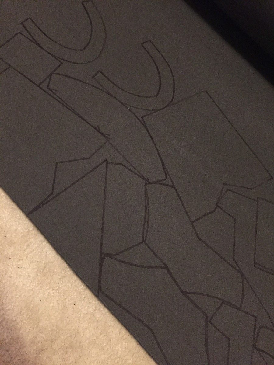 tracing templates on foam