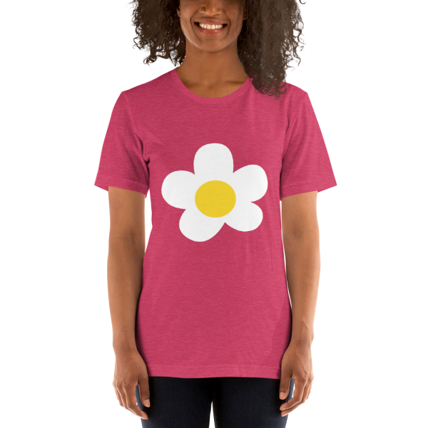 villager flower mockup Front Womens 2 Heather Raspberry